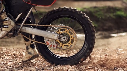 Motocross Wheel Spin