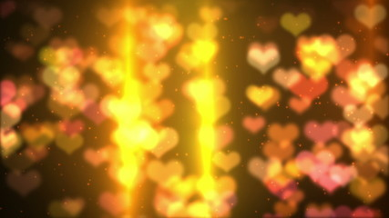 colorful  background  heart  bokeh  light   HD  loopable