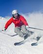 sportlich unterwegs auf der Skipiste