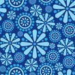 Materiał do szycia Seamless background of flowers and geometric shapes