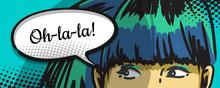 femme furtivement, bandes dessinées art urbain, bulle