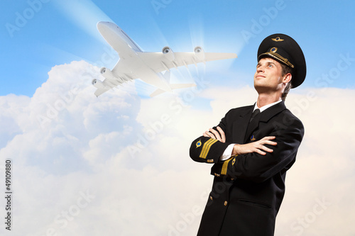 Image of male pilot