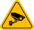 Video surveillance sign CCTV Camera