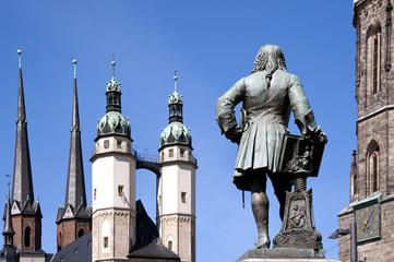 Halle - Saale Händel auf dem Hallmarkt