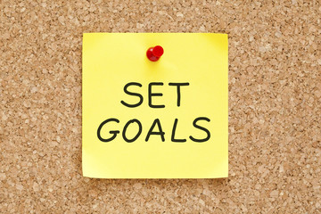 Set Goals Sticky Note
