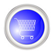 blue button with a trolley