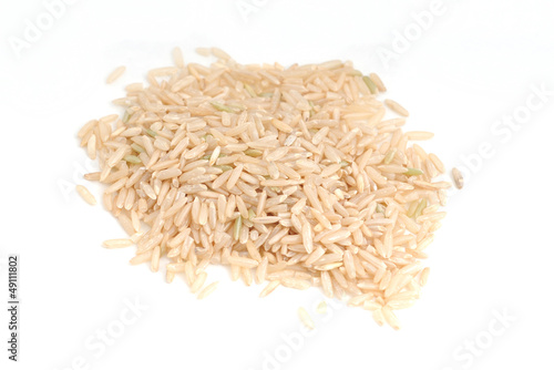 Brown Rice on White