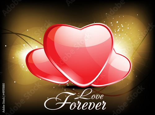 abstract glossy love background