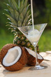Pinacolada coctail from coconut and pineapple