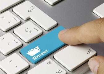 Bilanzen Tastatur Finger