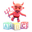 Devil learns his alphabet
