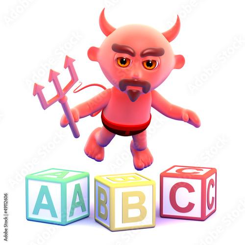 Devil learns his alphabet