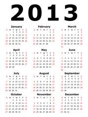 An Illustration of a Simple Calendar - 2013