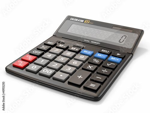 Leinwanddruck Bild Calculator on white isolated background