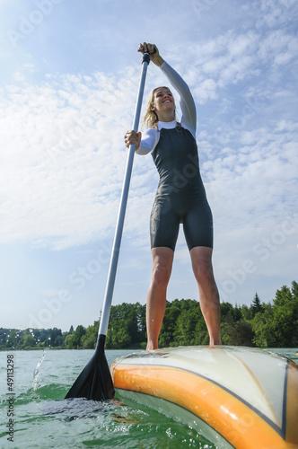 Wassersportlerin