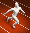 Runner figure on a track