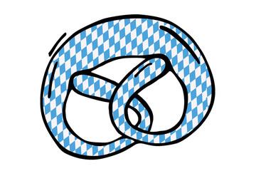 Brezel mit bayrischem Muster