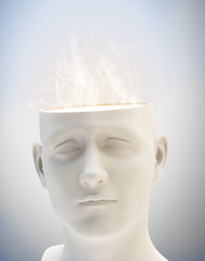 Creativity concept - abstract human head