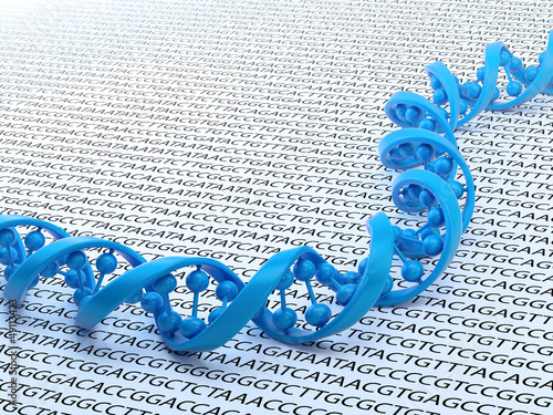 DNA sequencing concept illustration