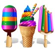 Ice Cream Ice Lolly Rainbow Colors - Gelato colori Arcobaleno