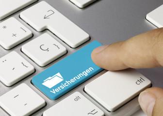 Versicherungen Tastatur Finger
