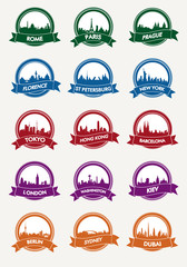 city ​​silhouette vector icon