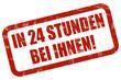 Grunge Stempel rot IN 24 STUNDEN BEI IHNEN!