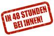 Grunge Stempel rot IN 48 STUNDEN BEI IHNEN!