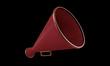 old red megaphone