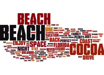 Cocoa Beach Florida Concept