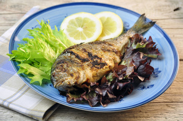 sea bream with salad