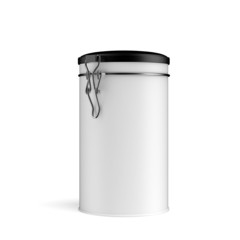 Tin Can With Lid
