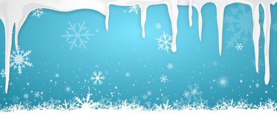 Winter Schnee Eiszapfen
