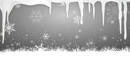 Eiszapfen Schnee Hintergrund