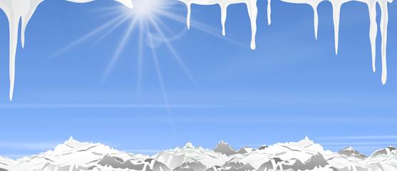 Winter Schnee Eiszapfen Berge