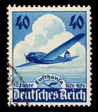 GERMANY, CIRCA 1936 - Post stamp printed in III German Reich