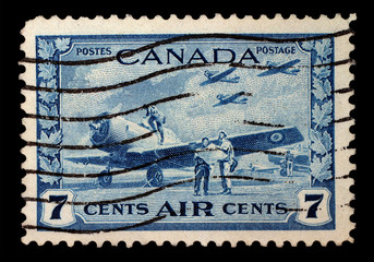 CANADA, CIRCA 1940 - Post stamp printed in Canada