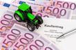Kaufvertrag für neuen Traktor