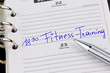 Eintrag im Kalender: Fitness Training