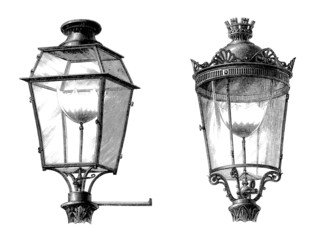 Gaz Street Lantern - Paris - 19th century
