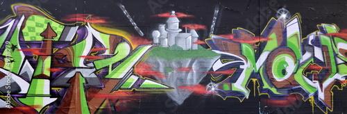 Fototapete Leerstehend - Teenager - Graffiti