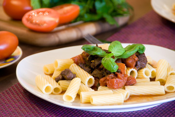 Pasta and Beef