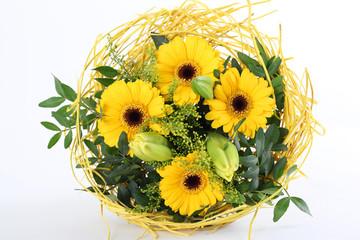 Blumenstrauß in gelb