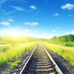 Railway on sunny day.