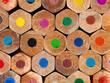 Color pencils background closeup