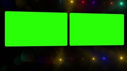 2 pantallas Chroma