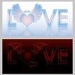 Angel and Devil hearts, vector illustration
