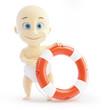 baby lifebuoy on a white background