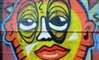 Fototapete Heranwachsender - Beton - Graffiti