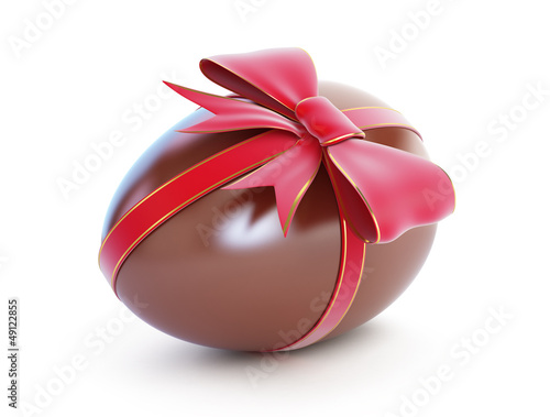 chocolate egg with bow